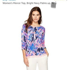 Lilly Pulitzer Mercer top in Palms Up !